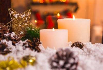 Christmas Candle HD Wallpaper