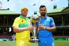 Virat Kohli and Aaron Finch ICC WC 2019