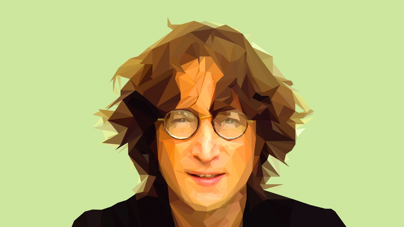 John Lennon Abstract Wallpaper
