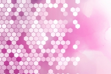 Desktop Pink Hexagon Wallpaper HD
