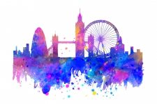 London Wallpaper Colorful 4K