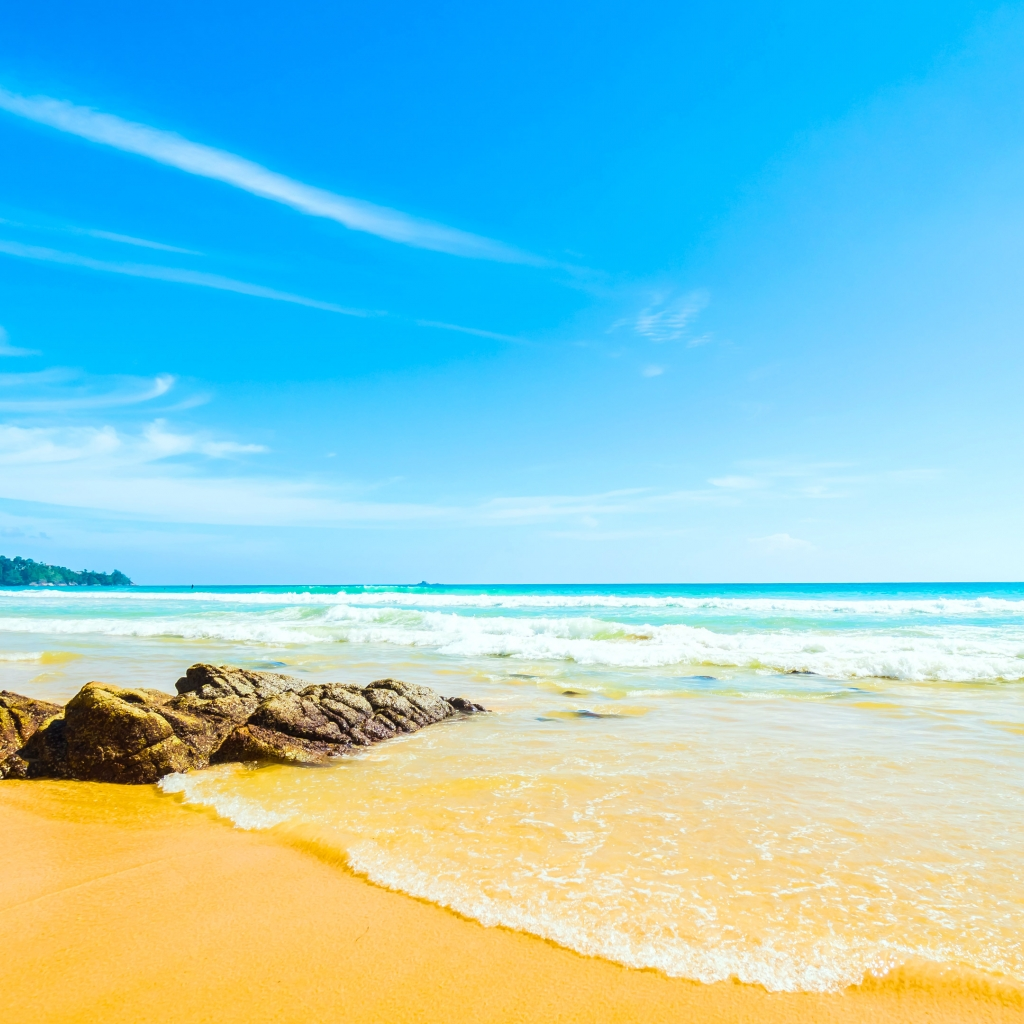 Beach Wallpaper 4k Download 1024x1024